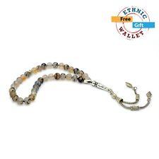 Dragon Veins Agate Prayer Beads-Tesbih-Tasbih-Tasbeeh-Misbaha (8 mm 33 beads)