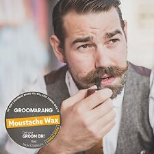 Groomarang Moustache Beard Wax Sandalwood 15ml 100% Natural Organic Vegan 4 Hair