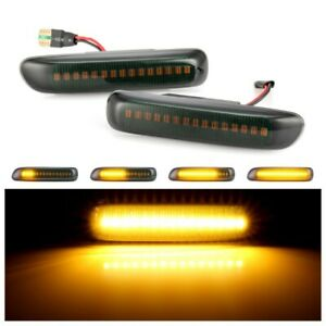 LED Sequential Dynamic Side Marker Light Turn Signal Light For BMW 3 Series E46