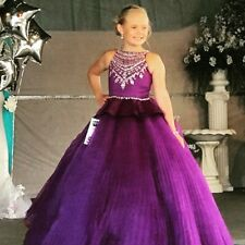 Girls size 10 Rachel Allan Perfect Angels pageant dress purple  long gown