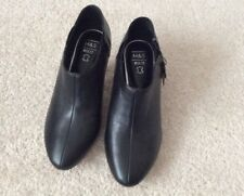 Ladies M&S Black Leather Slip On Shoes with Insolia- UK 5 Wider Fit - Brand New