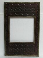 Vintage Hand Carved Wooden Brass Fitted Picture Photo Frame Collectible