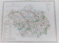 10 Aube gravure carte  Dufour Duvotenay 1860 (75-7)