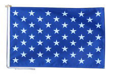 More details for united states navy jack flag with rope and toggle - various sizes