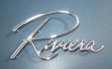 1963-1967 Buick Riviera Monogram. Chrome Script.