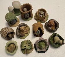 Vintage Franklin Mint woodland surprises porcelain figures 23 piece set