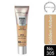 Maybelline Dream Urban Cover SPF50 All-In-One Protective Makeup, 305 GoldenAmber