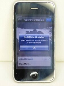 For Parts Not Working Apple iPhone 3 Black A1303 GSM Vintage Mobile Smart Phone