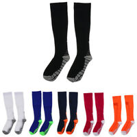 Unisex Football Plain Long Sock Sports Knee High Hockey Soccer Compression Socks