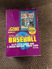 1991 SCORE SERIES 2 SEALED WAX BOX BASEBALL CARDS 36 PACKS JONES RC/MANTLE AUTO