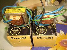2 X STANCOR A-4706 100 ohm : 60k MICROPHONE INPUT TRANSFORMER