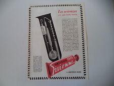 advertising Pubblicità 1949 DENTIFRICIO ERBA GI.VI.EMME
