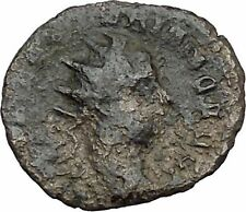 Valerian II Ancient Roman Coin Possibly Unpublished Fides Trust Cult  i40454