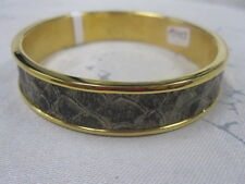 St John Knit NWT Gold Python LOGO Bangle Bracelet
