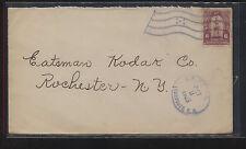 Honduras flag cancel 1925 cover to Eastman Kodak Co Ms0323