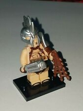 LEGO GLADIATOR WITH SAW LIKE HELMET AND WEAPONS