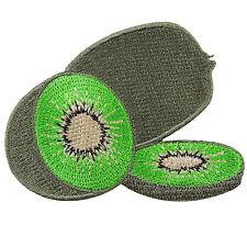 Kiwifruit Kiwi Fruit Foods Drink Smoothie Nature Children Iron-On Patches #A118