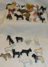 PLASTIC TOY ANIMAL FIGURES LOT - PUPPY DOGS OF ALL KINDS