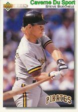 488 STEVE BUECHELE PITTSBURGH PIRATES BASEBALL CARD UPPER DECK 1992