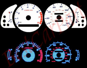 1992-1996 Camry l4 BLUE INDIGLO GLOW WHITE GAUGES