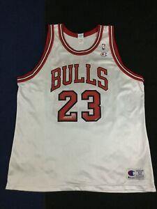 Vintage Chicago Bulls Michael Jordan #23 Basketball NBA Champion Jersey Size52