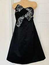 Principles Ben De Lisi Black & White Satin Look Strapless Dress Size 16