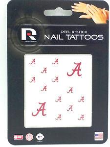 Alabama Crimson Tide Peel & Stick Nail Tattoos