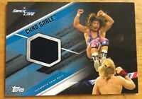 WWE TOPPS CHAD GABLE AUTHENTIC SHIRT RELIC 20/50 SMACKDOWN BLUE CARD 2017