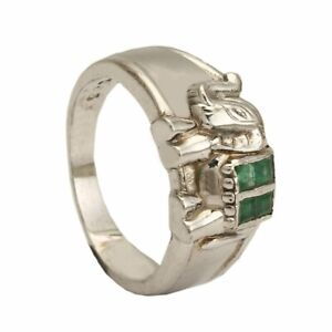 Latest Design Sterling Silver 92.5% Elephant Arts Crystal Stylish Rings Size6-10
