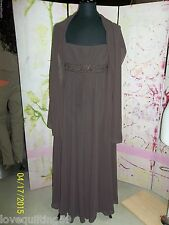 """DAVIDS BRIDAL"" Special Occasion or Prom Dress, Chocolate Brown, Spaghetti Strap"