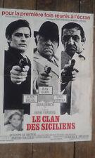 """affiche cinéma """" le clan des siciliens""""H. verneuil /A.DELON /J.GABIN /L.VENTURA."""