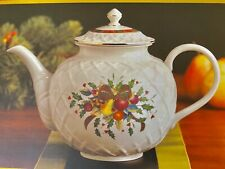 Lenox Holiday Tartan Carved Teapot~Christmas NIB NEW In Box