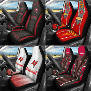 Set of Two Tampa Bay Buccaneers Car Seat Covers Universal Pickup Seat Protector