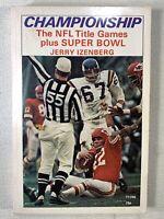 VINTAGE Championship Super Bowl NFL Izenberg Namath Brown Unitas Football Book