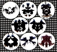 "Rorschach Test 8 NEW 1"" buttons pins badges psychological psych"