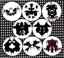 "Rorschach Test 8 NEW 1"" buttons pins badges psychological psych"