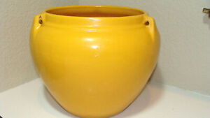 Rare Vintage Yellow Bauer California Pottery Large Hanging Basket, Pot or Vase