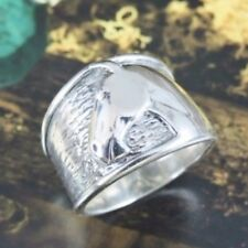 Silpada Sterling Silver Equestrian Size 7 Horse Head Band Ring R1460 Rare Wide