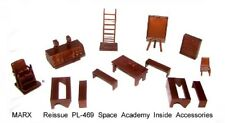 Marx reissue Tom Corbett space playset furniture in copper HP