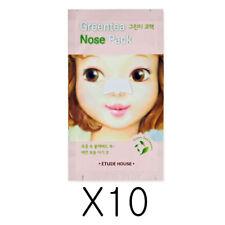 Etude House Green Tea Nose Pack Blackhead Remover  10 Sheets