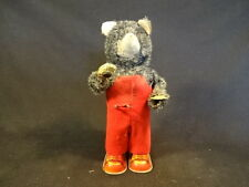 Old Vtg Tin Litho Wind Up Bear Flipping Pages While Reading Book Toy