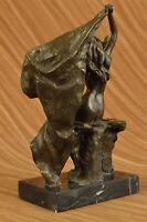 Bronze Statue Sculpture Sexy Lady Art Nouveau Deco Lost Wax Home Decor Hot Cast