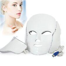 3 Color LED Infrared Facial Neck Mask Skin Microcurrent Rejuvenation Purify Tool