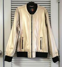 G by Guess gold faux leather bomber jacket XL urban outfit casual fashion style