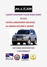 Tailor Made Toyota Landcruiser 100 Series Luxury Sheepskin Car Seat covers.