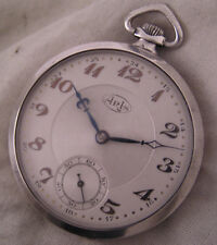 Serviced 100-Years-Old ARIS GENT'S Swiss Slim Silver Pocket Watch Perfect
