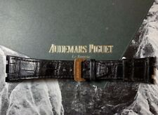AUDEMARS PIGUET Royal Oak Black Leather Band 18k Rose Gold Buckle Ref: 15400OR