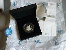 BLACK BOX TOM KITTEN SILVER PROOF 50p Ltd EDITION 1000 ROYAL MINT  IN HAND