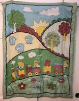 Vintage Handmade Green              Quilt Crib Blanket Comforter That's Our Baby