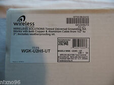 "WIRELESS SOLUTIONS WGK-U2H5-UT UNIVERSAL TINNED GROUND KIT 1/2"" TO 3"""